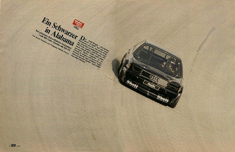 Audi 5000 CS 'Talladega'